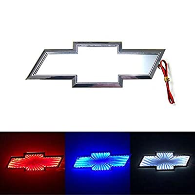 3D LED Car Tail Logo Light Badge Lamp Emblem For Chevrolet Holden Cruze Malibu EPICA CAPTIVA AVEO LOVR Fit for all Chevrolet of cars (Blue): Automotive