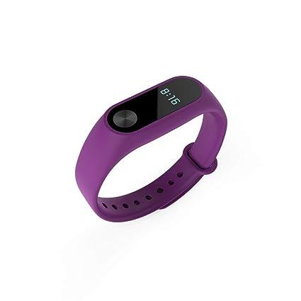 Auto Echo Banda para Xiaomi Mi Band 2 con Correa de Mano Cinturón Deportivo Silicona Reloj Pulseras para Mujeres Hombres Smart Pulsera Accesorios