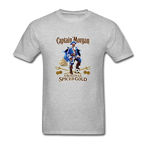 Niceda-Mens-Captain-Morgan-Short-Sleeve-T-Shirt-Yellow