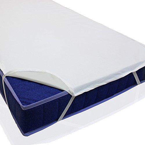 sinnlein® Wasserdichte atmungsaktive Molton Betteinlage 11 Größen wählbar 100% Baumwolle Matratzenschoner Matratzenauflage (90x200cm)