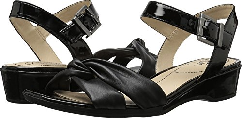 LifeStride Women's Monaco Sandal, Black, 11 M US