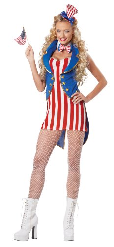 California Costumes Women's Miss Independence Adult, Red/Blue/White,