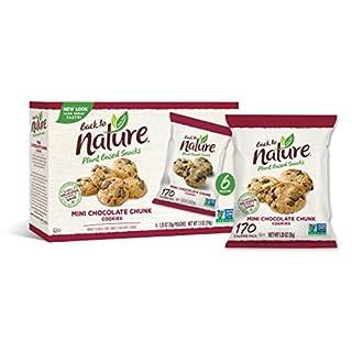 Back to Nature Cookies, Non-GMO Mini Chocolate Chunk, 6 Count