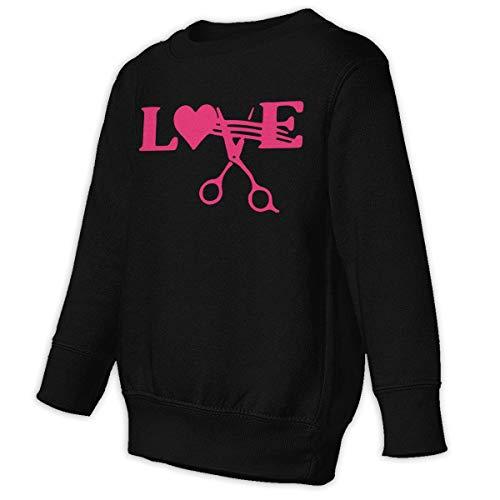 Stylist Barber Hair Cut Salon Scissor Baby Kid 2-6 Toddler Pullover Sweatshirts Sweaters -
