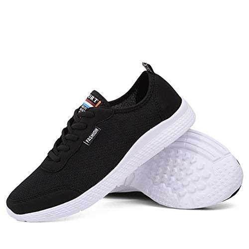 Nero Sneakers da Cricket da Stile Donna e Uomo Mesh Athletic superficiali da Scarpe Casual Corsa da in Traspirante Scarpe UUx5rTS