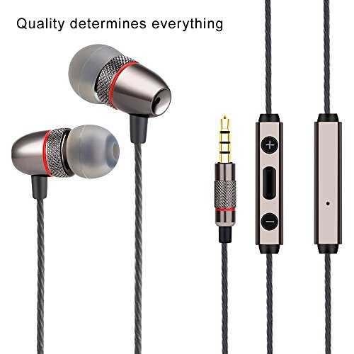 Brooke PACK Premium Earphones/Earbuds/Headphones with Stereo Mic&Remote Control for iPhone iPad iPod Galaxy and More Android Smartphones Compatible With 3.5 mm - Pack Stereo