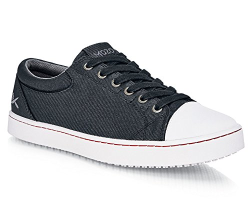 Scarpe per Equipaggi M31165–40/6.5Mozo Grind da uomo antiscivolo resistente tela sneaker, 6.5UK, nero/bianco