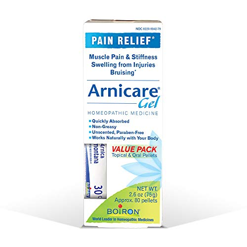 Boiron Arnicare Value Pack 2.6 Ounce Gel + 80 Pellet Tube Homeopathic Medicine for Pain - Pellets Arnica