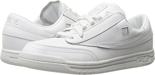 Fila Mens Sneaker Tennis Classico Originale Bianco, Bianco, Bianco