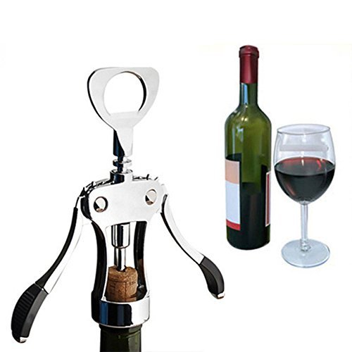 Wine Opener,Red Wine Beer Bottle Opener Wing Corkscrew for Wine Enthusiast Waiters Bartenders by Cute