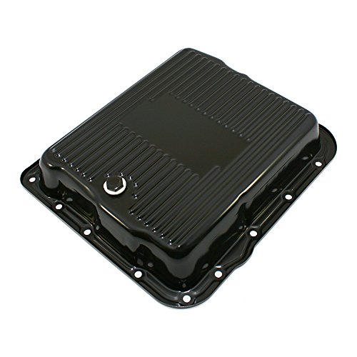 Assault Racing Products A7599BK GM 700R4 4L60E Black Transmission Pan Stock Capacity Automatic Trans 4L60 4L65E