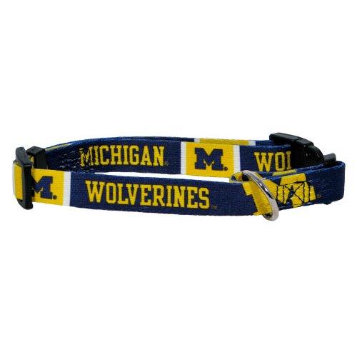 Hunter MFG Michigan Wolverines Dog Collar, Extra Large