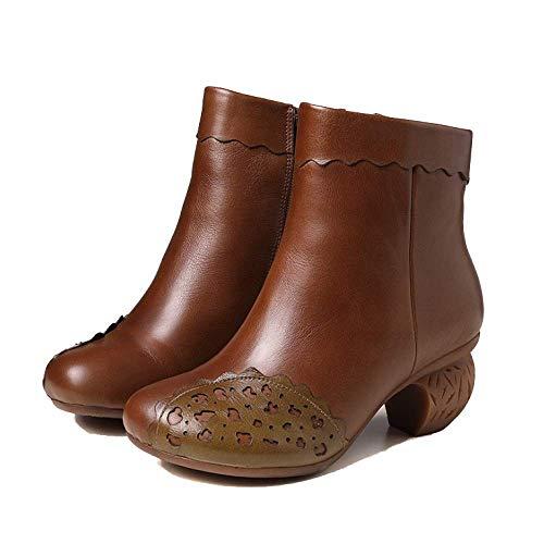 De Cómodos Elegantes Retro Khaki Zapatos Mujer Martin Versátiles ZPEDY Botas Ponibles Fw7RHqx6