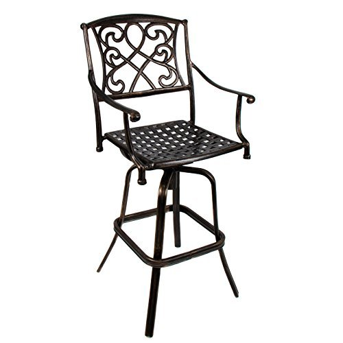 Elegant Swivel Bar stool Aluminum Antique Style Copper Patio Furniture With Ebook (Dining Furniture Tribeca Outdoor)