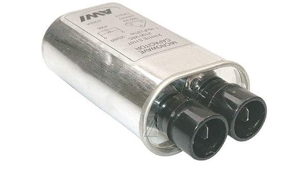 Whirlpool - Condensador 1,15 μf 2100 V 31 x 52 x 100 mm ±4 para ...