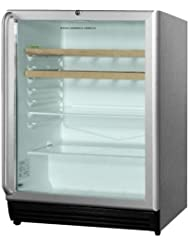 Summit SCR600BLCSSRC Beverage Refrigeration, Glass/Stainless-Steel