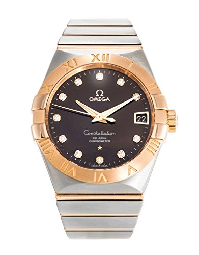 Omega Constellation Co-Axial Brown Diamond Dial Two Tone Unisex Watch 123.20.38.