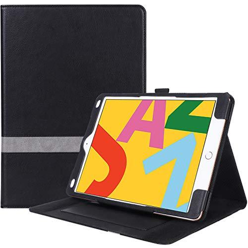 [해외]ProCase iPad 10.2cm 세대 케이스 2019 가죽 스탠드 폴리오 커버 케이스 다각도 뷰잉과 연필 홀더 애플 아이패드 10.2cm 2019 전용 / ProCase iPad 10.2 7th Generation Case 2019, Leather Stand Folio Cover CaseMulti-Angle Viewing and Pencil H...