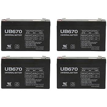 Amazon.com: 6 V 10000 mAh Batería de UPS para Injusa Power ...