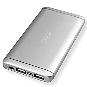 10000mAh Portable Charger Fast Charging,Dual USB Port External Battery Charger for iPhone, iPad, Samsung Galaxy, Smart Phone,tablet(silver)