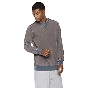 Rebel Canyon Young Men's Super Soft Fleece Color Blocked Pull-Over Crew Neck Sweatshirt X-Large Medium Grey Heather