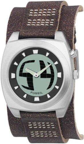 Fossil BG2060 - Reloj analógico y Digital de Cuarzo para Hombre con Correa de Piel, Color marrón: Amazon.es: Relojes