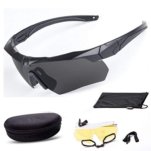 Y.H.W.U.S Goggles Motorcycle Goggles CS Crossbow Bulletproof Glasses for Men and Women Tactical Goggles Outdoor Shooting Crossbow PC (Color : Black)