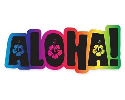 Amazon.com: OLS Studios Aloha Rainbow - Sticker Vinyl Decal ... on galaxy mobile home, tiffany mobile home, breeze mobile home, school bus mobile home, bad mobile home, hippie mobile home, run down mobile home, purple mobile home, desert mobile home, snow mobile home,