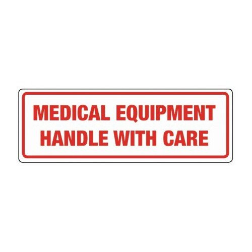 Swiftpak 148 x 50mm'Medical Equipment Handle With Care' Labels (Roll of 500) Swiftpak Limited LAVL148ME