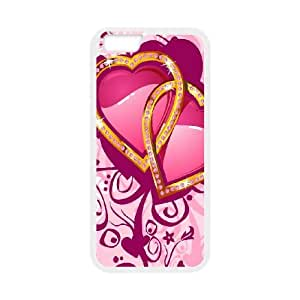 iPhone 6 4.7 Inch Cell Phone Case White Love Pink Custom Phone Case Protective CZOIEQWMXN3893