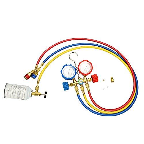 Mofeez Pro AC A//C Diagnostic Manifold Freon Gauge Set For R134A R12 R22 Refriger