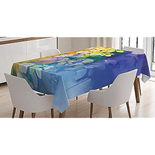 watercolor tablecloth amazon com