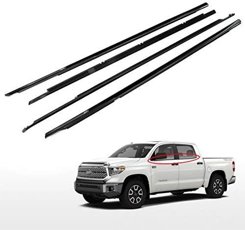 Toyota Tundra Crewmax 2007-2015 4pc Exterior Weatherstrip Belt Molding Set Genuine OE OEM