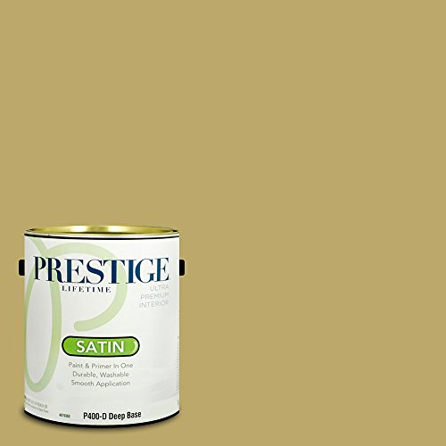 Prestige Paints P400-D-SW6416 Interior Paint and Primer in One, 1-Gallon, Satin, Comparable Match of Sherwin Williams Sassy Green, 1 Gallon, SW18-Sassy ()