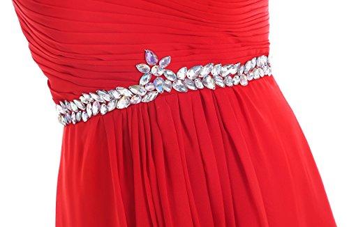'bridesmaid Damen Ball Chiffon dress49 A Edelsteinbesetztes missydress Abend Weinrot Line wxCH5BHnq