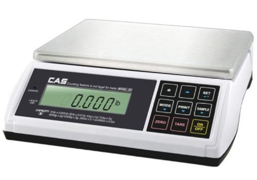 CAS ED-60 Digital Bench & Counter Scale, 0~30 x 0.01 lbs/30~60 x 0.02 lbs, Legal for Trade