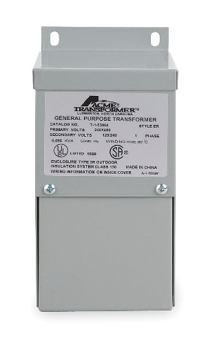 Acme Electric T279741S Low Voltage Distribution Transformer, Single Phase, 120/208/240/277 Primary Volts - 120/240 Secondary Volts, 1.5 kVA by Acme Electric