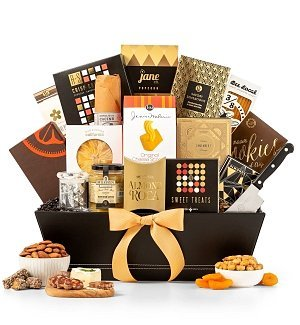 Luxury Tower Gift (GiftTree The Manhattan Gourmet Premium Snack Food Gift Basket - Premium Gift Basket)
