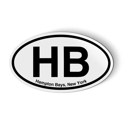 Stickers & Tees HB Hampton Bays New York Oval - Car Magnet - 5