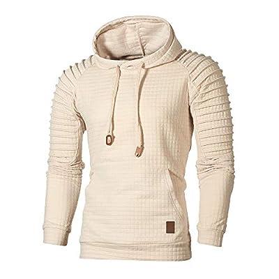 Autumn Long Sleeve Plaid Hoodie Hooded Sweatshirt Top Tee Outwear BlouseMen