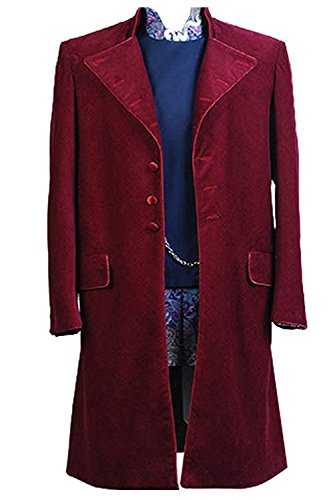 NoveltyBoy Johnny Depp Willy Wonka Charlie and the Chocolate Factory Coat Jacket Overcoat Topcoat - Goggles Willy Wonka
