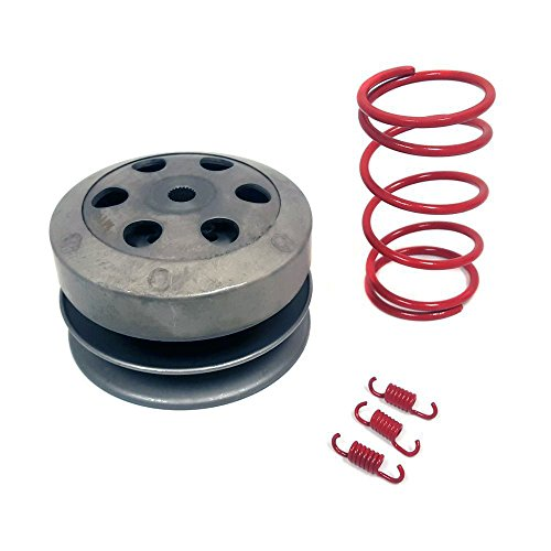 KIT 50cc 4 Stroke GY6/QMB139: Clutch + Torque and Clutch Shoe Springs set (2000 RPM) RED