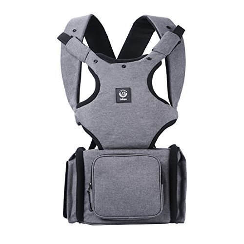 Unihope Best New Style 2-in-1 Baby Carrier and Multi-function Baby Diaper Bag Backpack,Safe and Comfortable for Child and Moms, Dads – Great Baby Shower Gift,Carbon Grey by Unihope