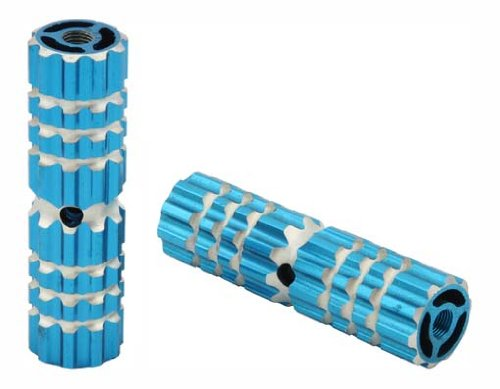 Alloy Pegs 661 24/26t W=1.10'' l=4 1/2'' Blue. Pegs for bike, bicycles, bmx, lowrider, mountain bike, beach cruiser