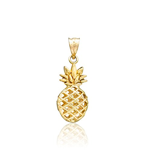 Honolulu Jewelry Company 14K Yellow Gold Pineapple Necklace Pendant