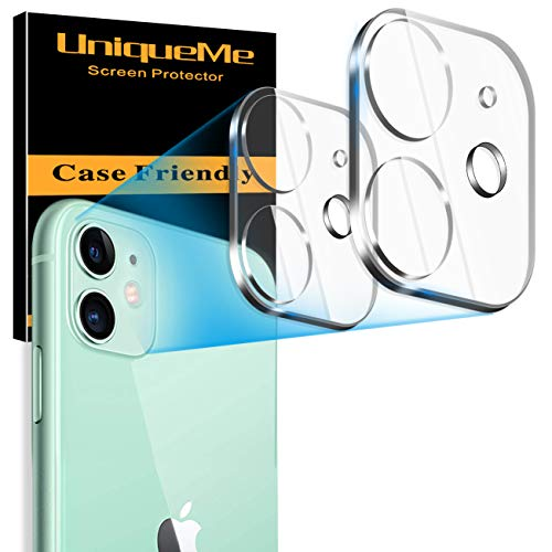 [ 2 Pack] UniqueMe Camera Lens Protector for iPhone 11 Tempered Glass, [New Version] Add Cameras Flash Circle from UniqueMe