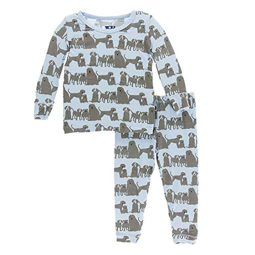 Kickee Pants Little Boys Print Long Sleeve Pajama Set, London Dogs, Boys 10 Years