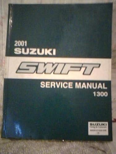 2001 suzuki swift service manual 1300 amazon com books rh amazon com 2017 Suzuki Swift suzuki swift 2008 manual book