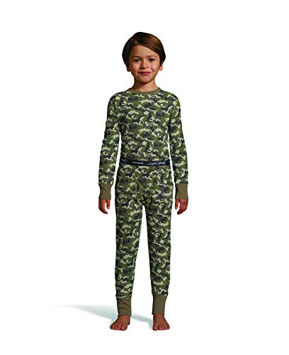 - Hanes Boy's Waffle Knit Thermal Set with FreshIQ, X-Temp Technology & Organic Cotton Camo