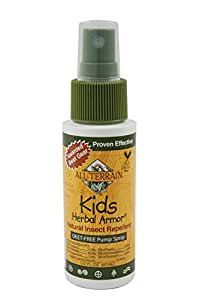 All Terrain Kids Herbal Armor DEET-Free Natural Insect Repellent Spray, 2-Ounce